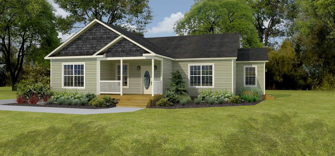 The Carolina Ranch Style Modular Floor Plan – The T-Ranch You've been Waiting For - Greensboro, NC
