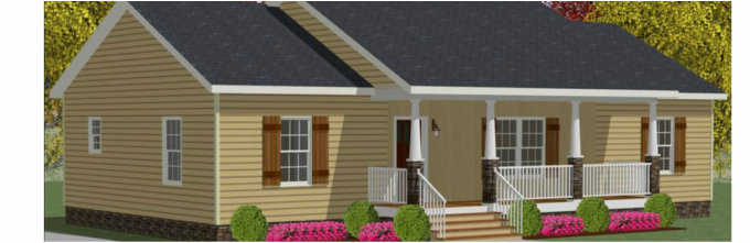 Ranch Style Modular Homes: The Ashwood is Strategically Custom-Designed So Every Room is Easy to Access - Hickory , NC