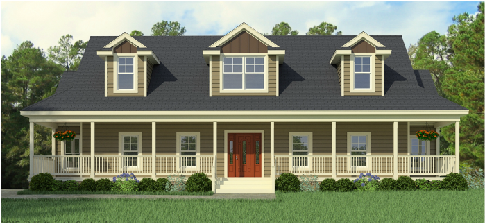 Cape Cod Modular Home – Greenbier Floorplan for a Classic Wrapped Porch and Other Prominent Features - Lewisburg, WV