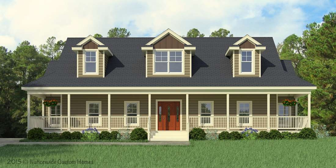 Greenbrier cape cod style modular home a conventional for Conventional homes