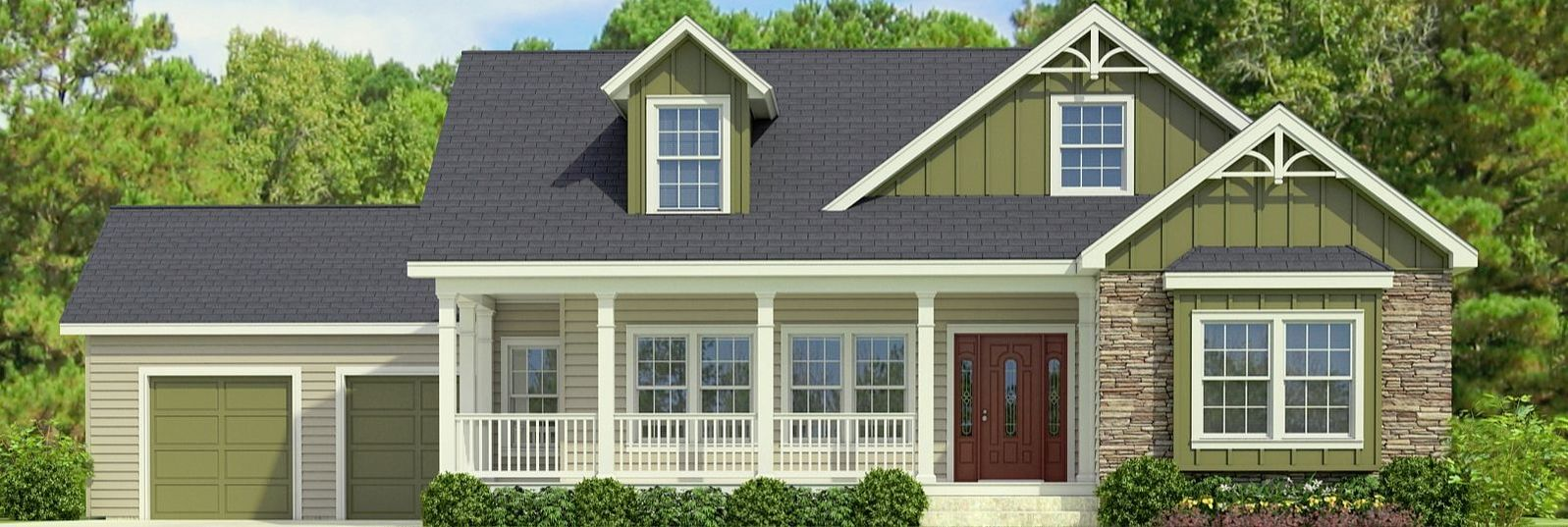 The Buckeye II Cape Cod Style Modular Home has a Trademark Wrap Porch and More - Lincolnton, NC