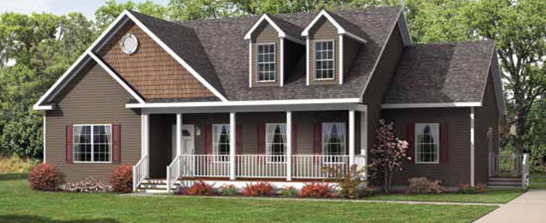 Trenton II Cape Cod Style Modular Floor Plan is Often Preferred by Young Couples and First Time Buyers, Find out Why – Lincolnton, NC