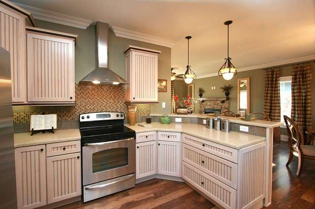Taller Cabinet Molding, Crown Molding, Tile Backsplash, Bronze Fixtures
