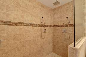 Full Tile Walk-in Shower