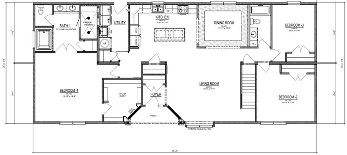 Silverpoint Homes - Stanley Cape Cod style modular floor plan